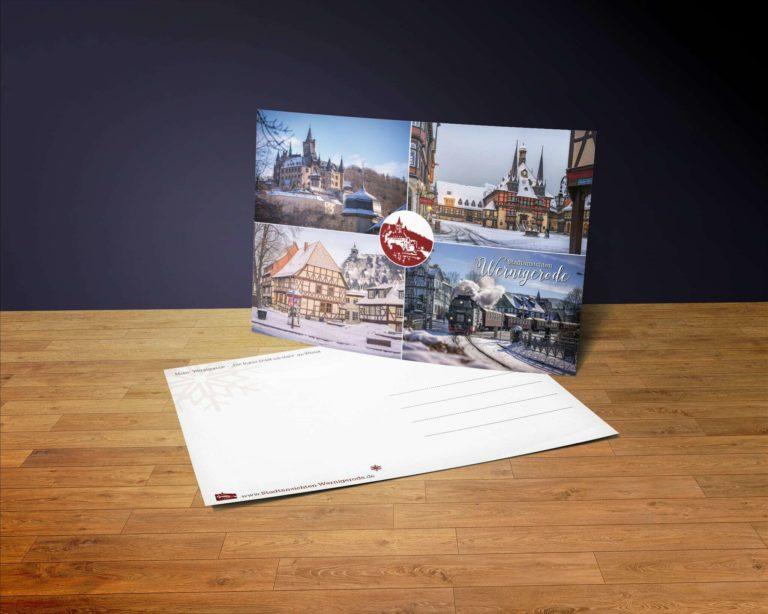 Wernigerode im Winter   4er Postkarte