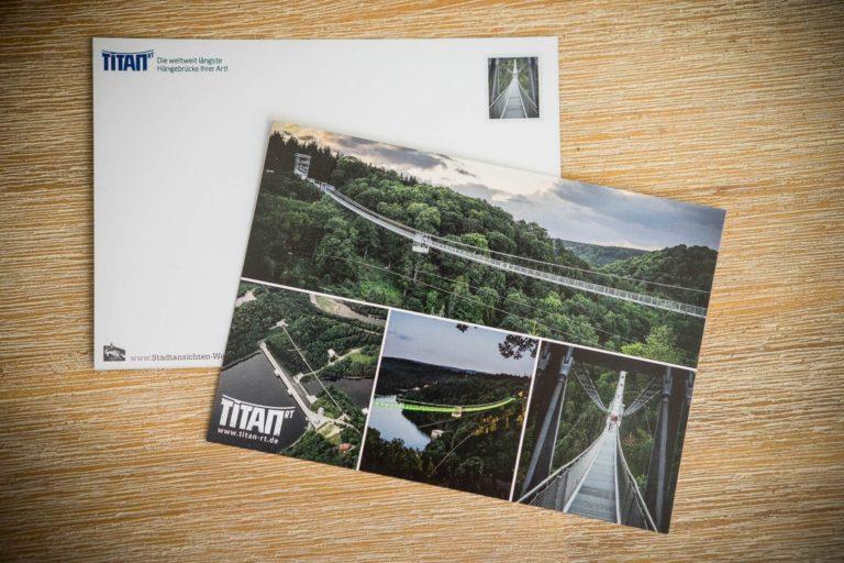 Hängebrücke TitanRT - 4er   Postkarte Stadtansichten Harzdrenalin