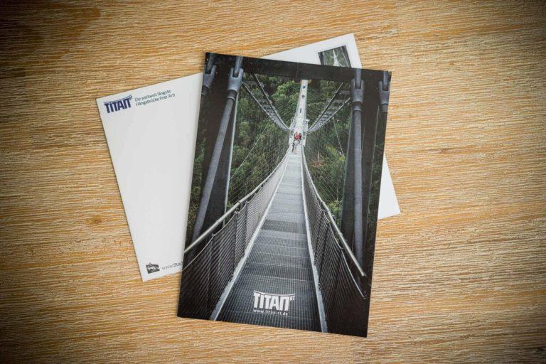 Hängebrücke TitanRT -Brücke im Hochformat | Postkarte Stadtansichten Harzdrenalin