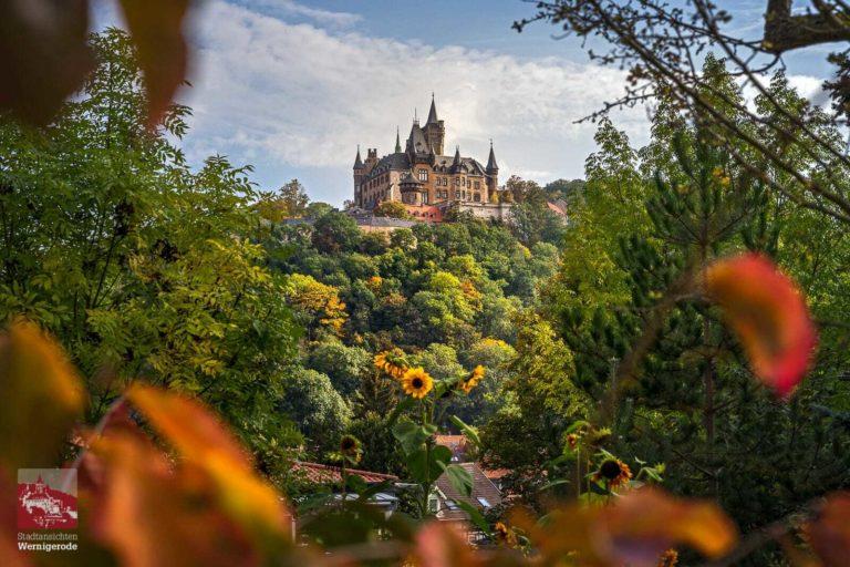 Das Wernigeröder Schloss im Herbst.
