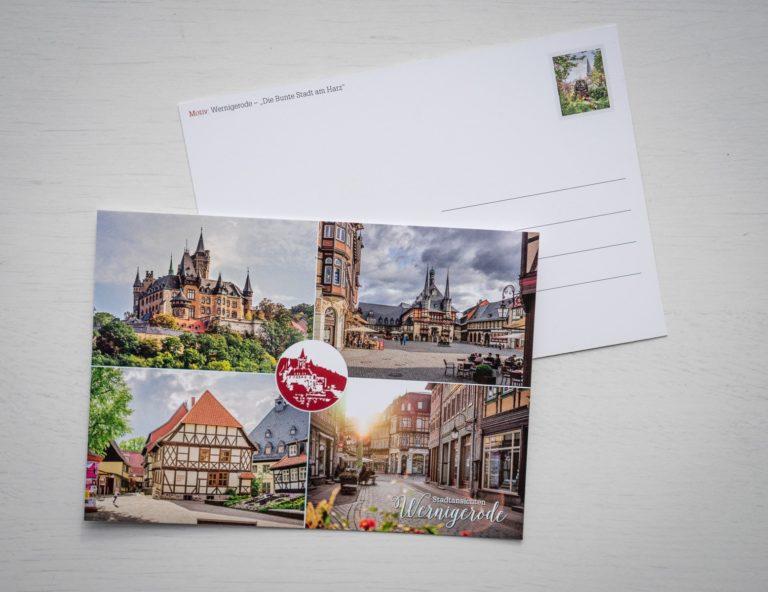 Postkarte - Wernigerode im Harz
